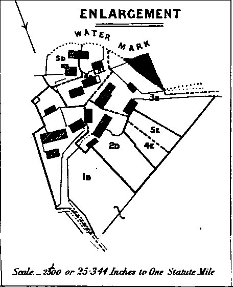 Layout of Muckrush village, from the Land Judges sale catalogue, 1879